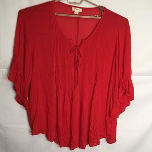 Style & Co Pleated Tunic Blouse Size 3X G31